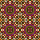 Circular geometric seamless kaleidoscope pattern Stock Images