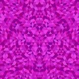 Circular geometric triangle kaleidoscope mandala background - symmetric vector pattern graphic design from triangles. Circular geometric triangle kaleidoscope Royalty Free Stock Images