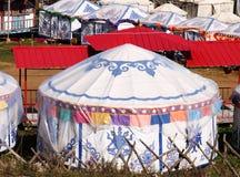 Circular ger tent Royalty Free Stock Image