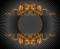 Circular gilt frame Royalty Free Stock Images