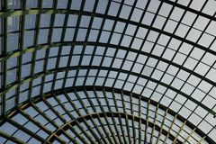 Circular glass ceiling. In the city Stock Photo