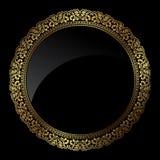 Circular gold frame Stock Photos