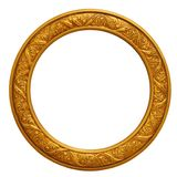 Circular Golden Picture Frame Royalty Free Stock Image