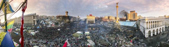Circular 360 grados de panorama de Maidan Imagen de archivo