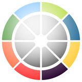 Circular graph icon, chart icon. Element for infographic design Stock Photo