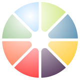Circular graph icon, chart icon. Element for infographic design Royalty Free Stock Photography