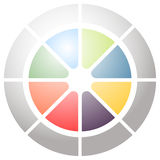 Circular graph icon, chart icon. Element for infographic design Royalty Free Stock Photos