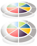 Circular graph icon, chart icon. Element for infographic design Stock Image
