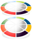 Circular graph icon, chart icon. Element for infographic design Royalty Free Stock Image