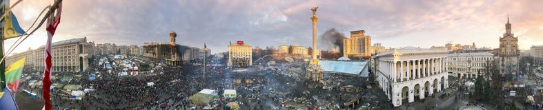 Circular 360 graus de panorama de Maidan Imagens de Stock