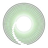 Circular Green Modern Logo Design Royalty Free Stock Photography