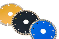 Circular grinder blades for tiles isolated on whit Royalty Free Stock Photography