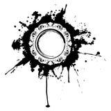 Circular grunge mirror frame. Stock Image