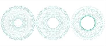 Circular guilloche. Vector illustration. Stock Photos