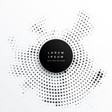 Circular halftone dots background design. Illustration vector illustration
