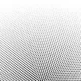Circular halftone dots vector background. Illustration Stock Photo