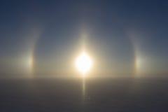 Circular Halo (22° Degree Halo) Around The Sun Stock Photos