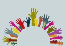 Circular hands Stock Images