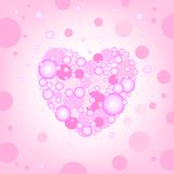 Circular heart effects background Stock Image