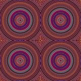 Hippie Style Mandala Seamless Pattern Tile In Orange and Purple royalty free stock image