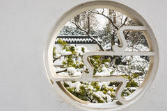 Circular Hollow out window Royalty Free Stock Images