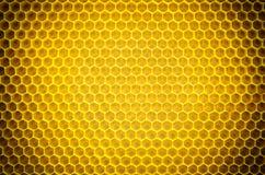 Circular honeycomb background. Elliptic gradient. Circular honeycomb background. Elliptic dark gradient beeswax Stock Photo