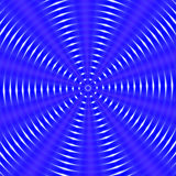 Circular hypnotic abstract background in blue hues. Circular wave like shape in blue, white and pink hues. Abstract image Vector Illustration