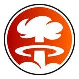 Circular, icono de la explosión nuclear del hongo atómico de la pendiente ilustración del vector