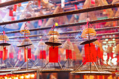 Circular incenses in Chinese temple Stock Images