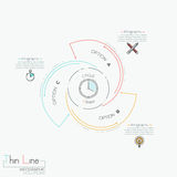 Circular infographic design template with 3 spiral lettered elements Stock Photography