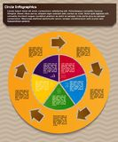 Circular infographic design template. Infographic design template. Circular style of infographics for presentation of circular process in your business. Circle Royalty Free Stock Photo