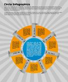 Circular infographic design template. Infographic design template. Circular style of infographics for presentation of circular process in your business. Circle Royalty Free Stock Image
