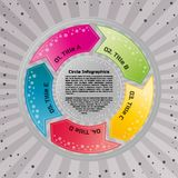 Circular infographic design template. Infographic design template. Circular style of infographics for presentation of circular process in your business. Circle Stock Photos