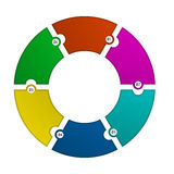 Circular infographic template Royalty Free Stock Photography