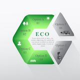 Circular infographics about the environment Royalty Free Stock Images