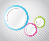 Circular Infographics template illustration Stock Photos
