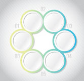 Circular Infographics template illustration Stock Images