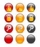 Circular internet security icon set Royalty Free Stock Photography