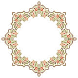 Circular islamic background two. Series of patterns designed by taking advantage of the former Ottoman Stock Photo