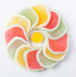 Circular jelly candy Stock Images