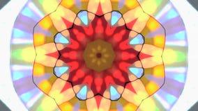 Circular kaleidoscope stock video
