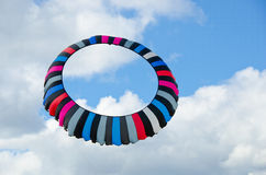 Circular kite in the sky Stock Photos