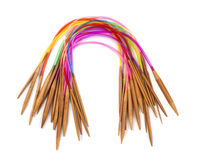 Circular knitting needles Stock Images