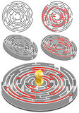 Circular Labyrinth Royalty Free Stock Image