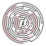 Circular labyrinth Stock Image