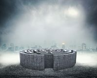 Circular labyrinth Stock Image