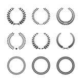 Circular Laurel Wreaths vector illustration