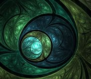 Circular Layers Abstract. Layered textures in circular effect - fractal abstract background vector illustration