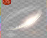 Circular lens flare transparennt light effect transparency in additional format only. Abstract galaxy. Beautiful ellipse border. Luxury shining hole. Rotational royalty free illustration