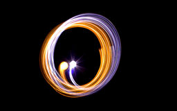 Circular light trails abstract Stock Photo